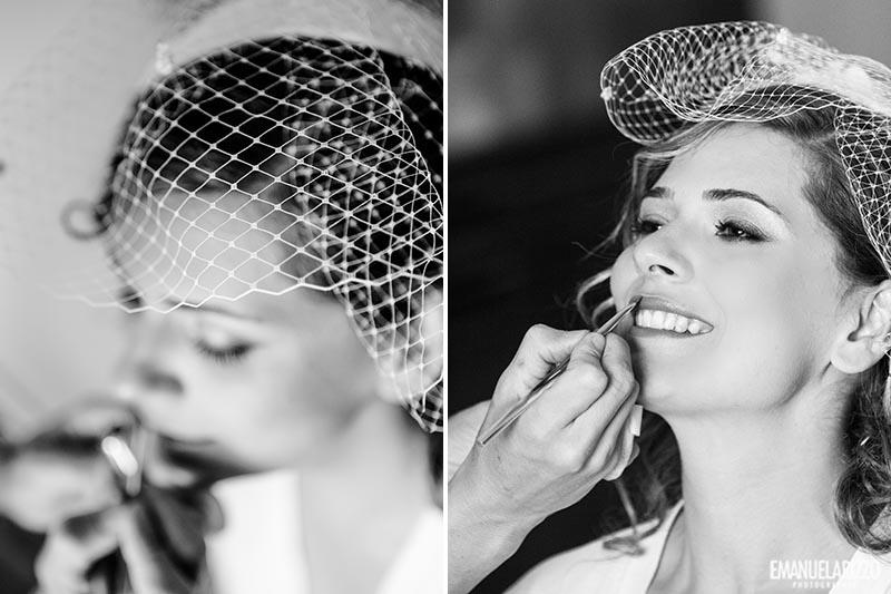 Trucco della sposa Matrimonio al Castello Monaci Emanuela Rizzo Fotografo
