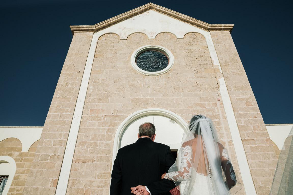 arrivo della sposa matrimonio torre suda racale