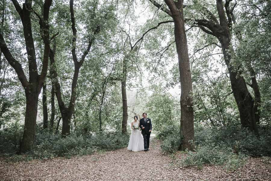 arrivo della sposa rito civile matrimonio tenuta tresca salento